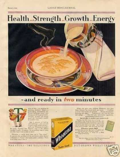 Wheatena Cereal Color (1929)