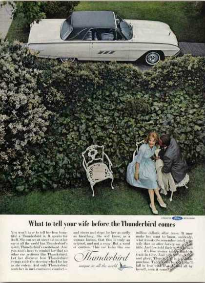 """What To Tell Your Wife Before the Thunderbird"" (1963)"