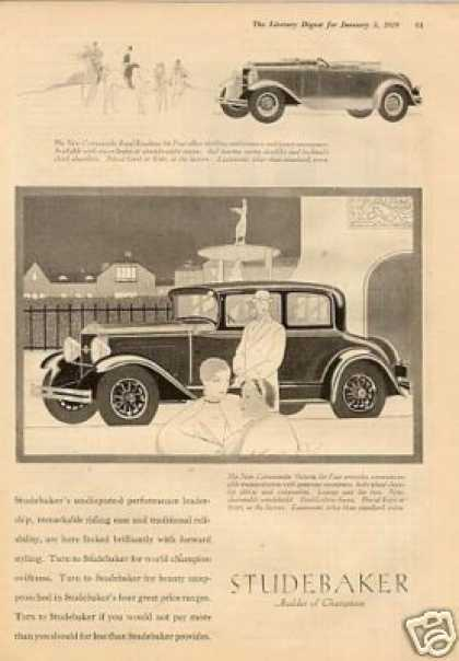 Studebaker Cars Ad 2 Page (1929)