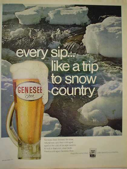Genesee Beer Like a trip to snow country (1970)