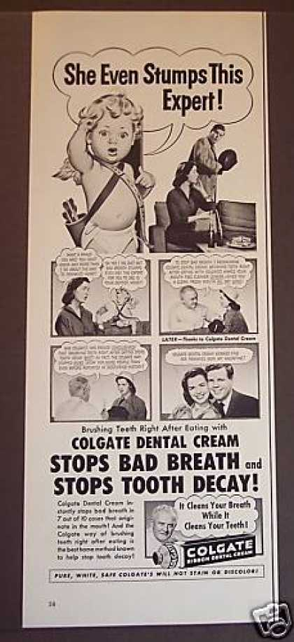 Colgate Dental Cream Cupid (1953)