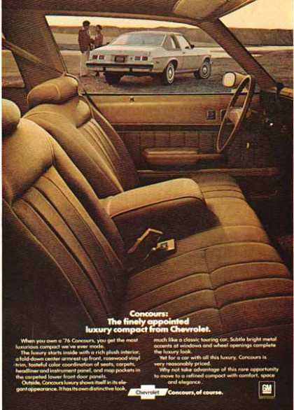 Chevrolet Car – Concour / Gray – GM (1976)
