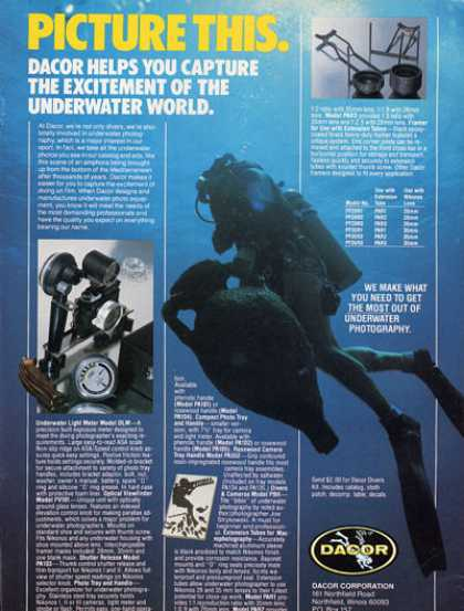 Dacor Scuba Diver Underwater Photography (1979)