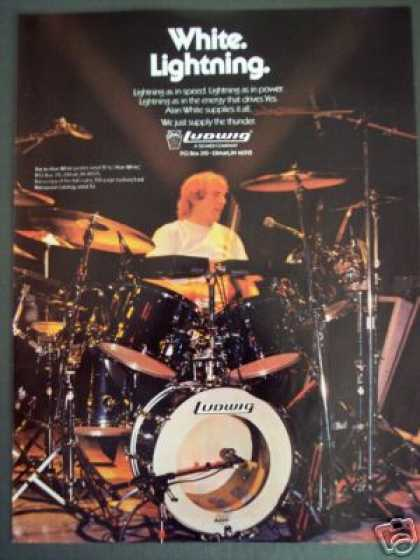 Yes Drummer Alan White Photo Ludwig Drums (1985)