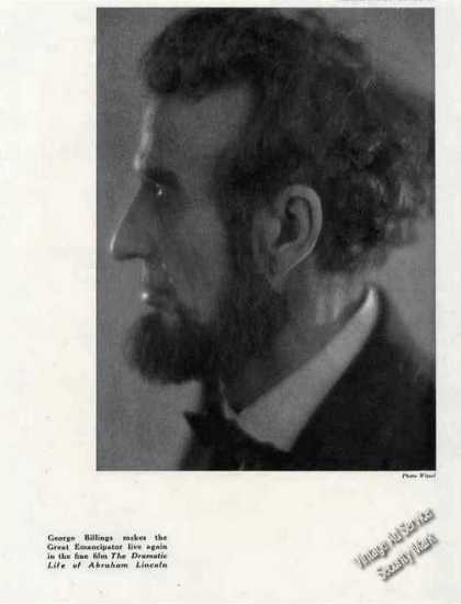 Antique Print Photo of George Billings By Witzel (1924)