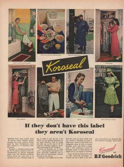 Koroseal Fabric By Bf Goodrich (1946)