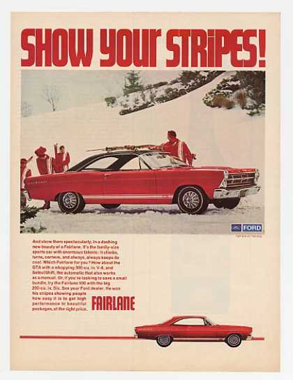 Ford Fairlane GTA Show Stripes Skiing Skiers (1967)