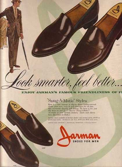 Jarman's Snug-A-Matic Styles of shoes (1961)