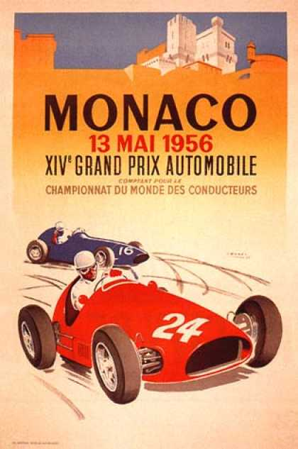 Monaco Grand Prix by J. Ramel (1956)