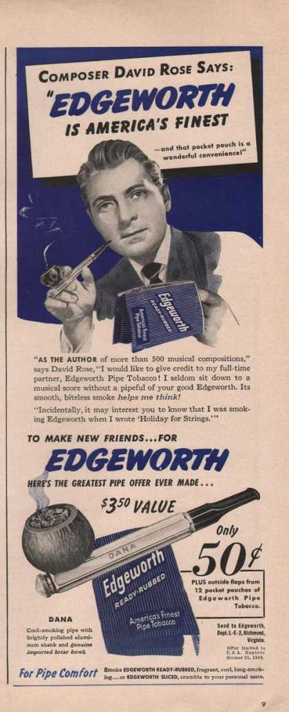 Edgeworth Pipe Tobacco David Rose (1949)