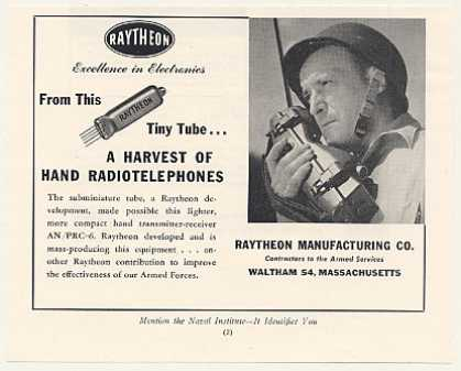 Raytheon Subminiature Tube Hand Radiotelephone (1953)