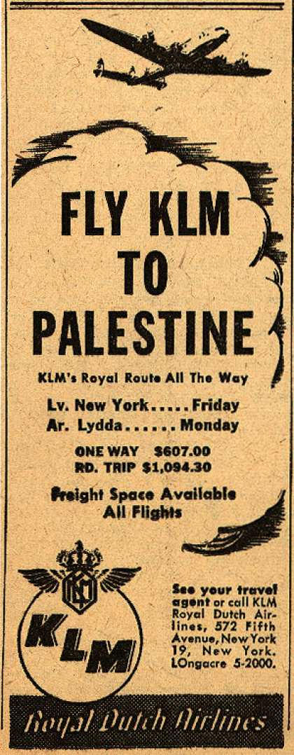 KLM Royal Dutch Airline's Palestine – Fly KLM to Palestine