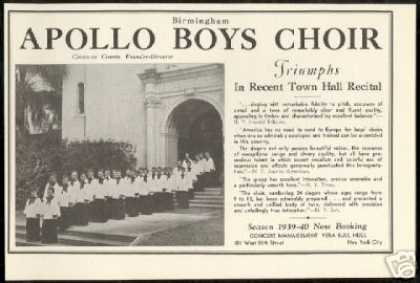 Birmingham Apollo Boys Choir Review (1939)