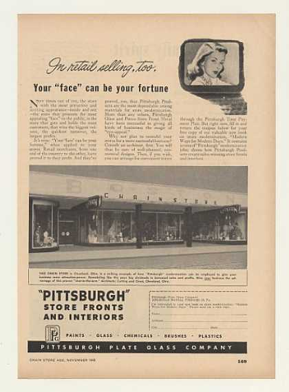 Boston Chain Store Cleveland PPG Store Front (1948)