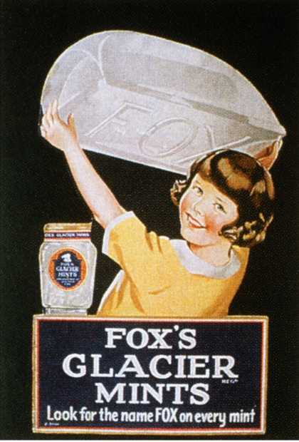 Fox&#8217;s Glacier Mints, Sweets, UK (1920)