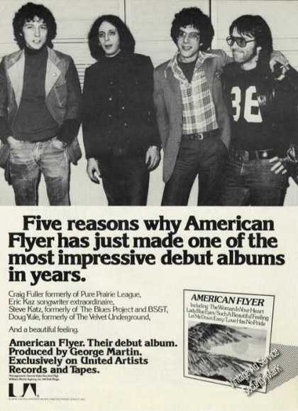 American Flyer Photo Rare Debut Album (1976)