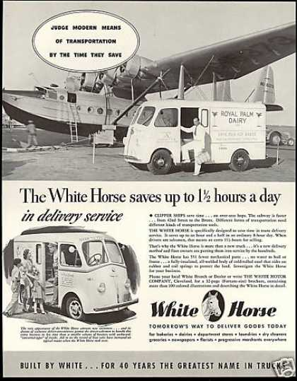 White Truck Royal Palm Dairy Clipper Airplane (1940)