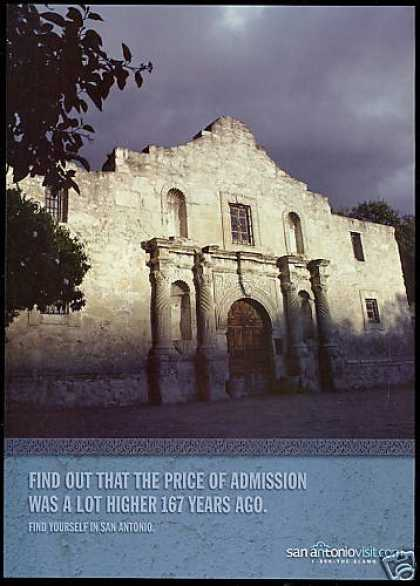 San Antonio Texas Alamo Admission Travel (2004)