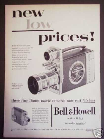 Bell & Howell 16mm Swifturn Turret Movie Camera (1953)