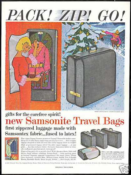 Samsonite Travel Bags Luggage Vintage (1959)