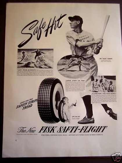 "Fisk Tires Baseball Player Joe ""Flash Gordon (1941)"