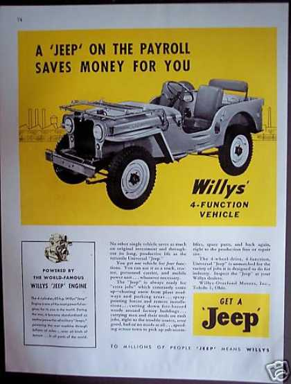 Willys-overland Motors 4-function Jeep (1946)