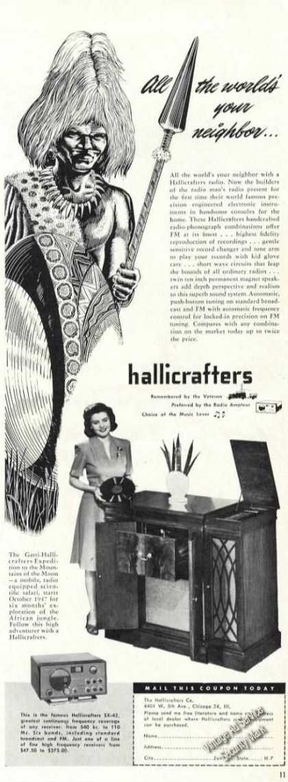 Hallicrafters Radio-phonograp (1947)