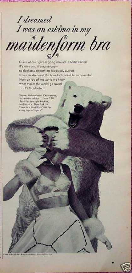 Maidenform Bra Dreamed Eskimo Polar Bear Cover (1954)