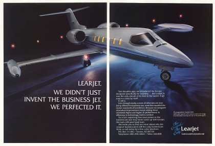 Learjet Lear Jet 35A Aircraft Photo 2-Page (1983)