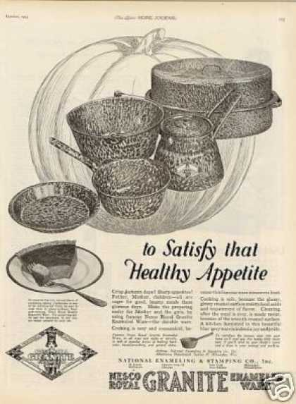 Nesco Royal Granite Enameled Ware (1923)