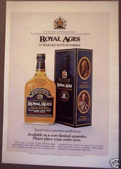 Royal Ages Blended Scotch Whisky (1975)
