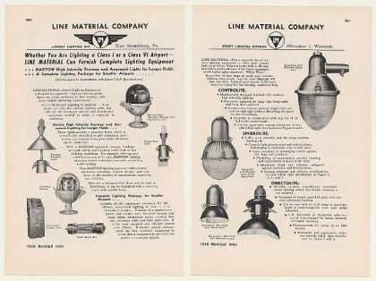 Line Material Airport Runway Street Lighting 2P (1948)