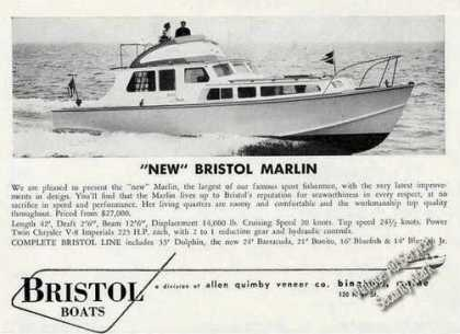 Bristol Marlin Photo Bingham Me (1958)