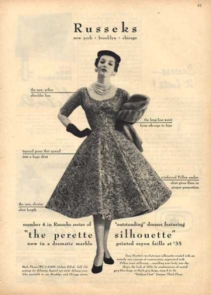 Perette Silhouette Dress Fashion (1953)