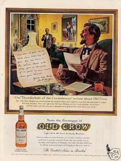 "Old Crow Bourbon Whiskey Ad ""The Thunderbolt... (1961)"