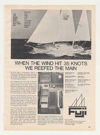 Fuji 32 Sailboat Yacht Boat Photo (1977)