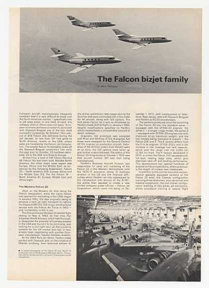 Falcon 10 20 30 40 50 Jet 4-Page Photo Article (1974)