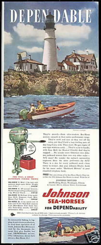 Lighthouse Portland Johnson Outboard Boat Motor (1952)