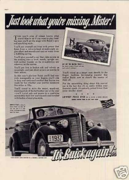 "Buick Car Ad ""Just Look What You're... (1937)"