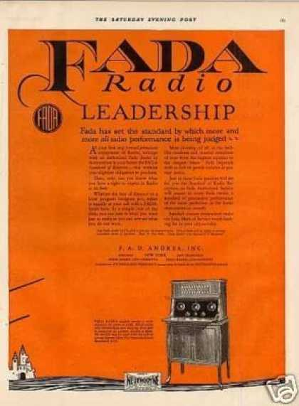 Fada Neutrola-grand Radio Color Ad 2 Page (1925)