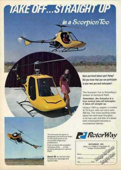 Rotorway Scorpion Too Personal Helicopter Photo (1969)