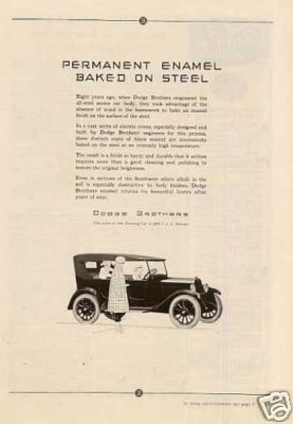 "Dodge Brothers Car Ad ""Permanent Enamel... (1923)"