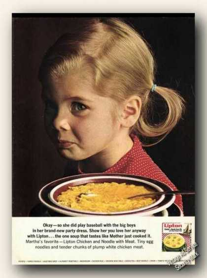 Lipton Chicken & Noodle Soup Cute Child (1967)
