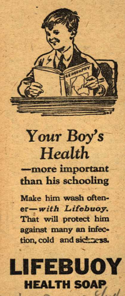 Lever Brothers Company's Lifebuoy Health Soap – Your Boy's Health (1924)
