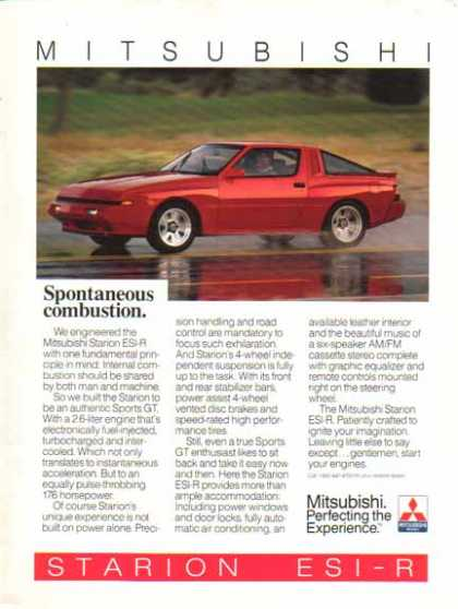 Mitsubishi Starion ESI-R Sport GT Car – Spontaneous Combustion (1987)