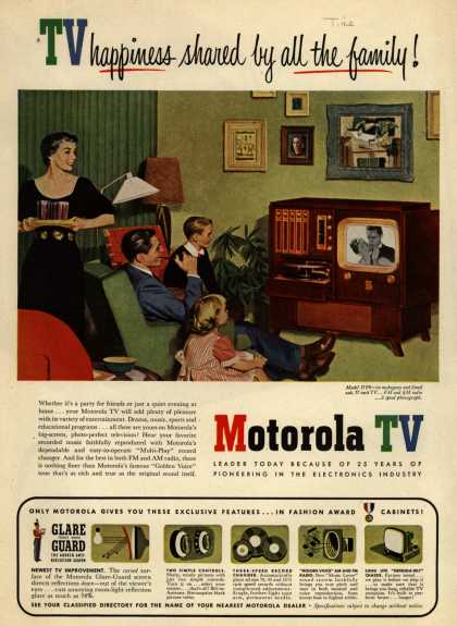 Motorola's Model 17F6 – TV happiness shared by all the family (1951)