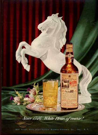 White Horse Whisky Bottle (1951)