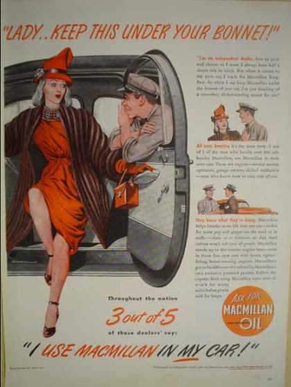 Macmillan Motor Oil Automobile (1947)