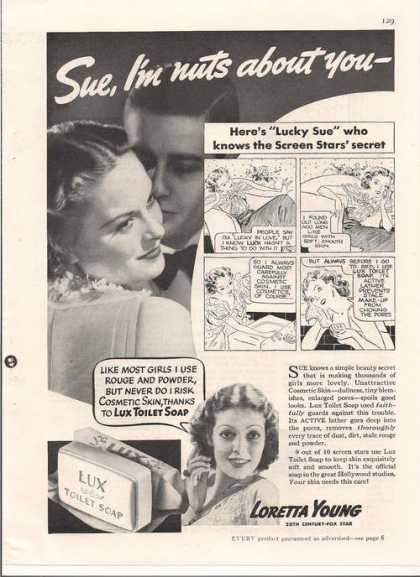Lux Toilet Soap With Loretta Young (1936)