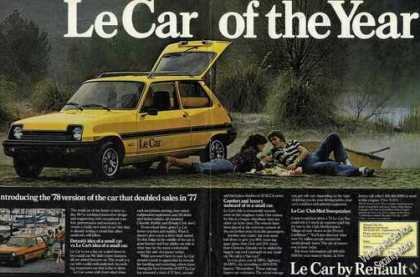 Le Car of the Year Renault (1978)